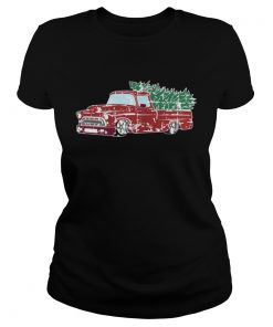 Ladies Tee Christmas Jumper or Shirt with Vintage Truck Shirt
