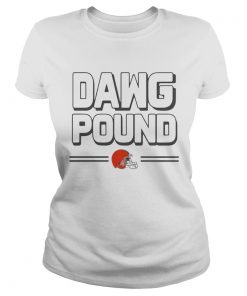 Ladies Tee Dawg pound Cleveland Browns shirt