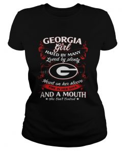 Ladies Tee Georgia Girl Hated By Many Loved By Plenty Heart On Her Sleeve Shirt