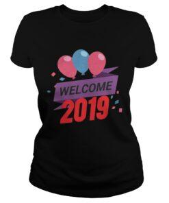 Ladies Tee Happy New Year 2019 Tee Shirt