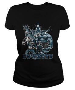 Ladies Tee The Avengers Dallas Cowboys shirt