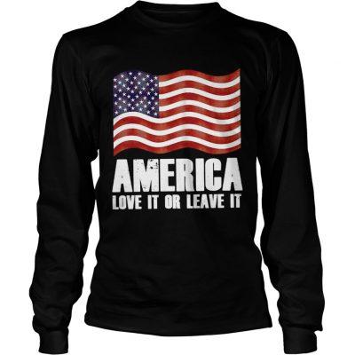 Longsleeve Tee America love it or leave it shirt