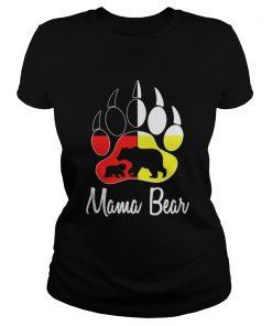 Mama Bear Plaid ONeck Ladies Tee