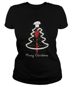 Merry Christmast tree chef Ladies tee