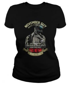 November Guy with Three Sides Quiet Side Fun Crazy Side Ladies Tee