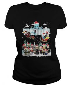 Official Chibi game of throne christmas Ladies Tee