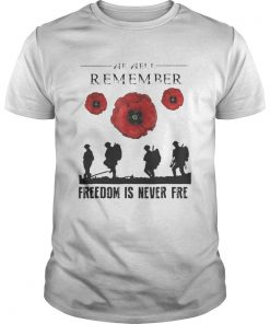 Official We are remember freedom is never free Guys