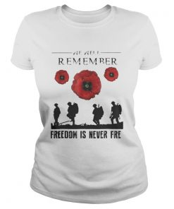 Official We are remember freedom is never free Ladies Tee