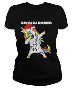 Rammstein Santa Unicorn Dabbing Ladies Tee