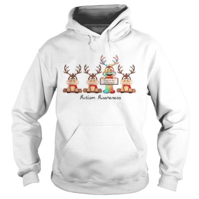 Reindeer dare to be different autism awareness Hoodie