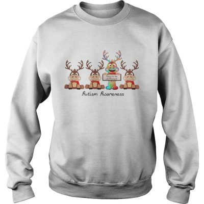 Reindeer dare to be different autism awareness Sweatshirt