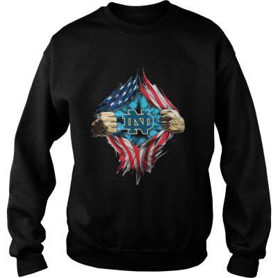 Sweatshirt Inside America Notre Dame Fighting Irish shirt