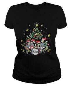 The Beatles and Christmas tree Ladies Tee