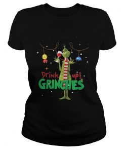 The Drink Up Grinches Christmas Ladies Tee