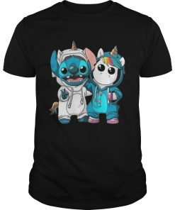 Guys Baby Unicorn and Stitch shirt