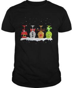 Guys Christmas wine glasses Grinch