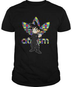 Guys Goku Adidas Autism Awareness Shirt