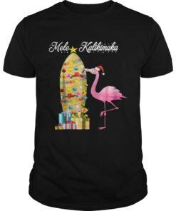 Guys Hawaii Mele Kalikimaka Flamingo Hawaiian Christmas