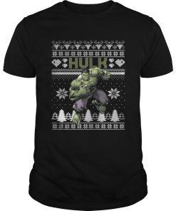 Guys Hulk Marvel ugly christmas
