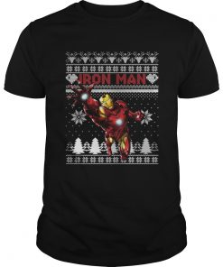 Guys Iron Man Marvel ugly christmas