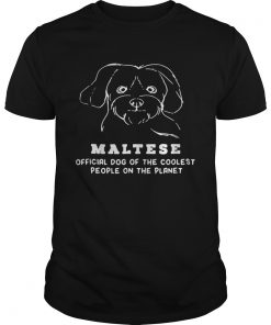 Guys Maltese Dog Of The Coolest shirt