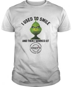 Guys The Grinch I Used To Smile and Then I Worked Deets Barbecue shirt