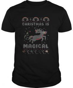 Guys Unicorn Christmas is magical sweat shirt