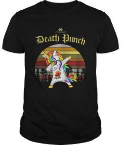 Guys Unicorn dabbing five finger death Punch vintage shirt