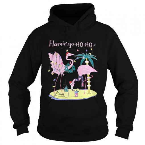 Hoodie Flamingo ho ho Christmas