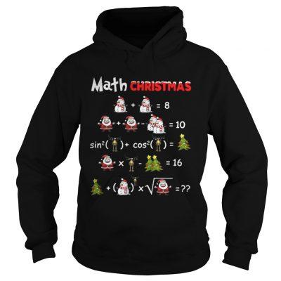 Hoodie Satan Snowman Math Christmas