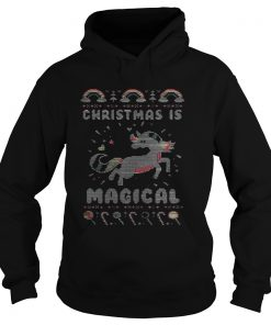 Hoodie Unicorn Christmas is magical sweat shirt