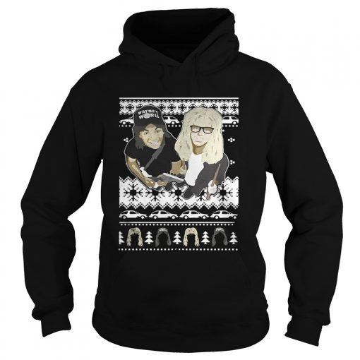 Hoodie Wayne's World knitting pattern all over print