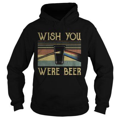 Hoodie Wish You Were Beer Pink Floyd vintage