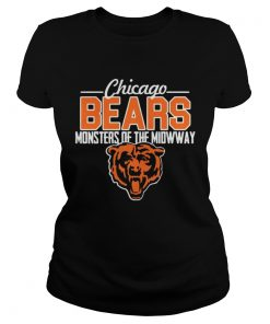 Ladies Tee Chicago Bears monsters of the midway tiger