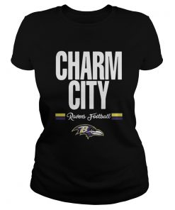 Ladies Tee Funny Charm City Baltimore Ravens Football