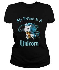 Ladies Tee Harry Potter My Patronus is a unicorn shirt