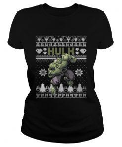 Ladies Tee Hulk Marvel ugly christmas