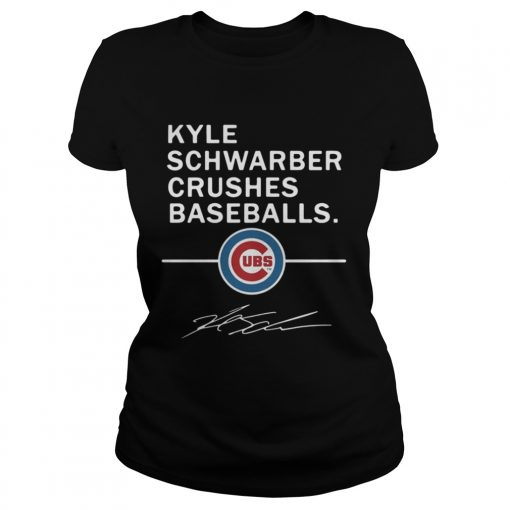 Ladies Tee Kyle Schwarber Crushes baseball Chicago Cubs