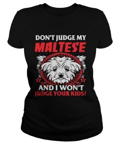Ladies Tee My Maltese And Your Kids shirt