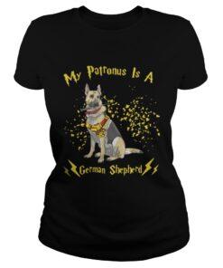 Ladies Tee My Patronus is a German Shepherd Christmas