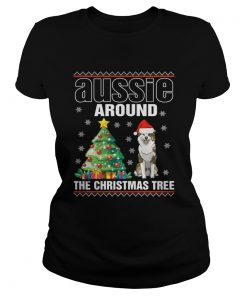 Ladies Tee Official Aussie Around The Christmas Tree