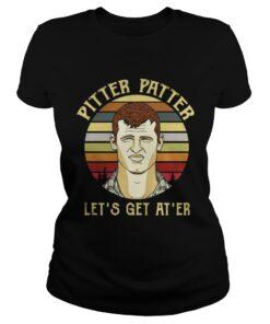 Ladies Tee Official Pitter Patter let's get at 'er vintage