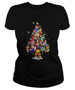 Ladies Tee Official Super Mario christmas tree