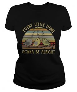 Ladies Tee Official Vintage Every little thing gonna be alright