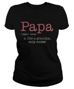Ladies Tee Papa a like a grandpa only cooler shirt
