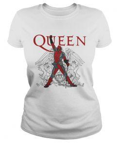 Ladies Tee The Queen Freddie Mercury Deadpool