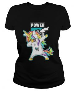 Ladies Tee Unicorn dabbing Port Adelaide