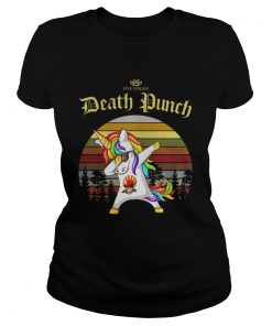 Ladies Tee Unicorn dabbing five finger death Punch vintage shirt