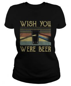 Ladies tee Wish You Were Beer Pink Floyd vintage