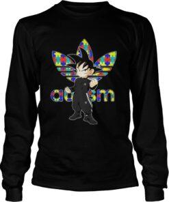 Longsleeve Tee Goku Adidas Autism Awareness Shirt